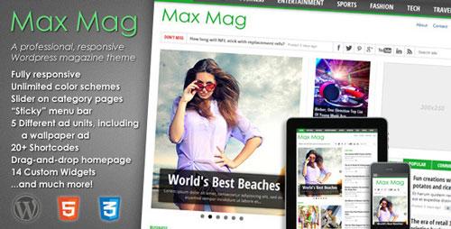 Max Mag v2.09.0 — Responsive WordPress Magazine Theme