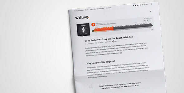 Writing Blog v3.3.5 — Personal Blog