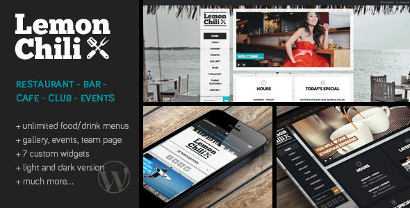 LemonChili v3.01 — a Premium Restaurant WordPress Theme