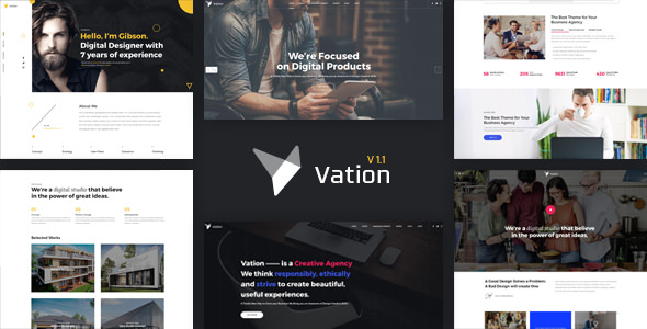 Vation v1.1 — Responsive Multi-Purpose HTML5 Template
