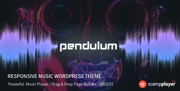 Pendulum v2.0.3 — Responsive Music Theme for Bands and Djs