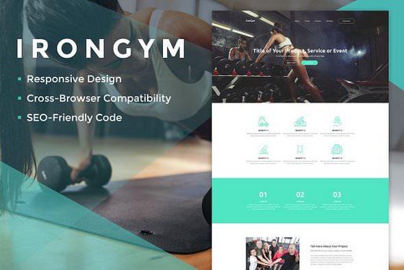 IronGym Landing Page HTML
