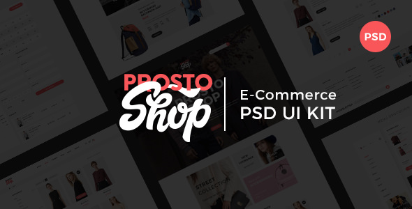 Prosto Shop v1.0 — E-Commerce PSD Kit