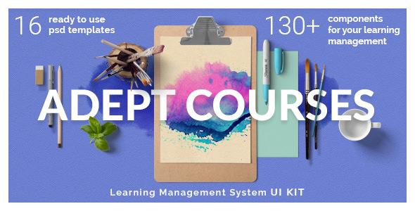Adept Courses v1.0 — Learning Management System PSD Kit