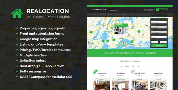 Realocation — Modern Real Estate Template