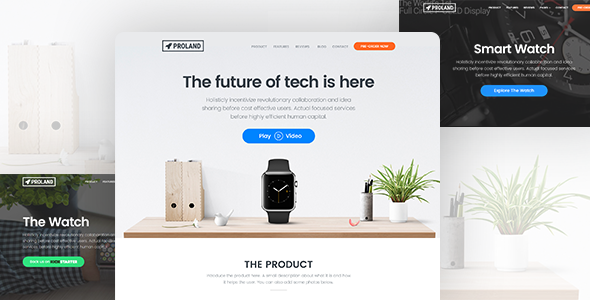 Proland v1.4.3 — WordPress Product Landing Page Theme