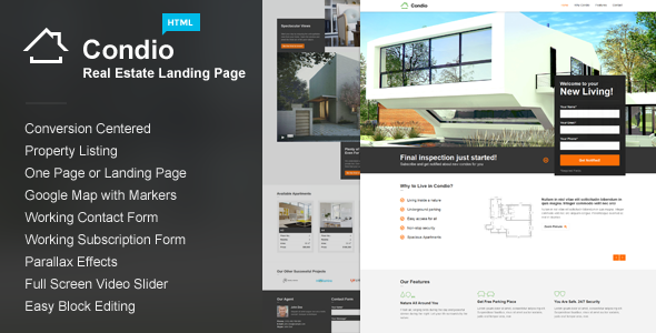 Condio v1.3 — Real Estate Landing Page