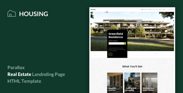 Housing v1.0 — Real Estate Landing Page Template