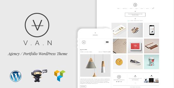 VAN v2.1.1 — Minimalist Agency, Photo Gallery Shop Theme
