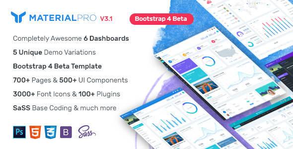 MaterialPro v2.2.1 — Material Design Bootstrap 4 Admin Template