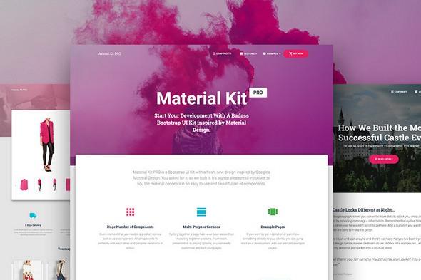 Material Kit PRO v1.2.1 — Premium Bootstrap Material Design UI Kit