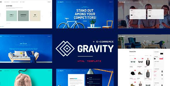 Gravity v1.0 — ECommerce, Agency & Presentation HTML Template