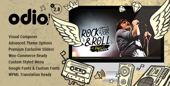 Odio v3.4 — Music WP Theme For Bands, Clubs, and Musicians