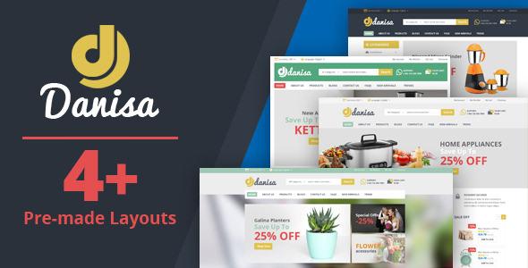 Danisa v1.0 — Appliances, Gifts, Flower, Kitchenware Magento Theme