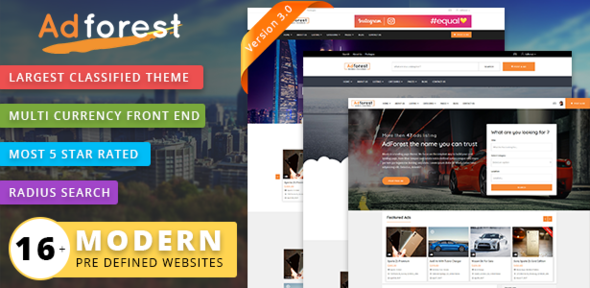 AdForest v3.1.2 — Classified Ads WordPress Theme