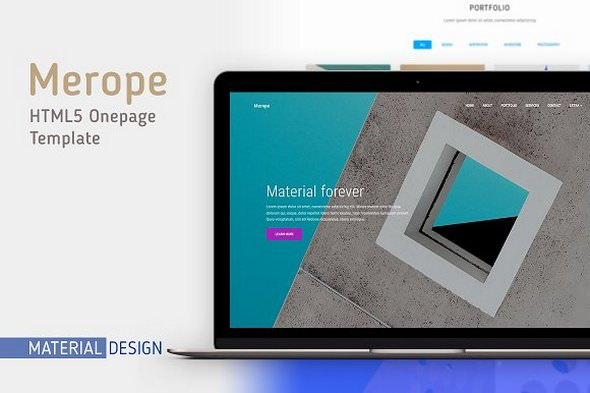 Merope v1.1 — Material Design Template