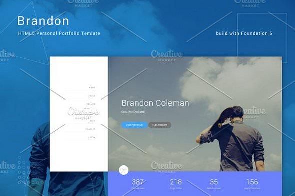 Brandon v1.0 — HTML5 Personal Template
