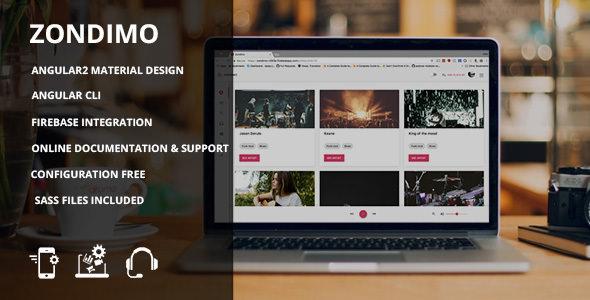 Zondimo v1.0 — Angular Music app