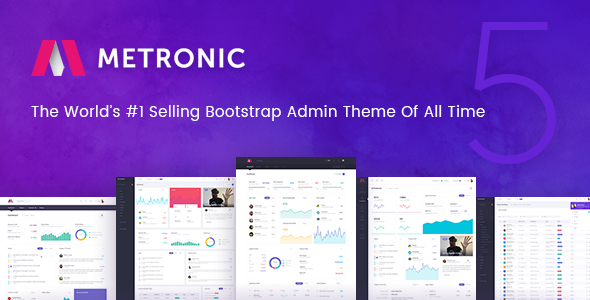 Metronic v5.0.7.1 — Responsive Admin Dashboard Template