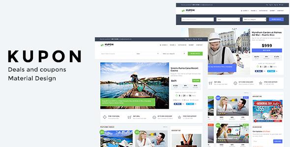 KUPON v1.0 — Deals & Discounts — Material Design