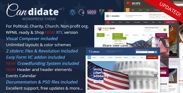 Candidate v4.7 — Political/Nonprofit WordPress Theme