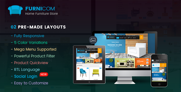 Furnicom v1.1.6 — Responsive Multipurpose OpenCart 2.3 and 2.2 Theme