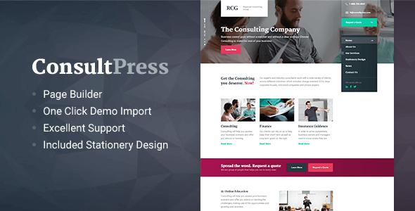 ConsultPress v1.5.0 — WordPress Theme for Consulting