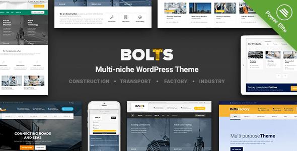 Bolts v1.7.1 — WordPress Theme for Construction, Transport