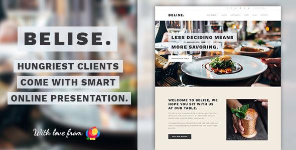 Belise v1.0.10 — Exquisite Minimalist Restaurant Theme
