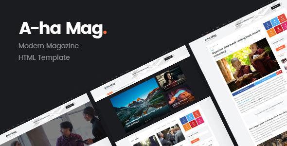 AhaMag v1.0 — Modern Magazine HTML Template