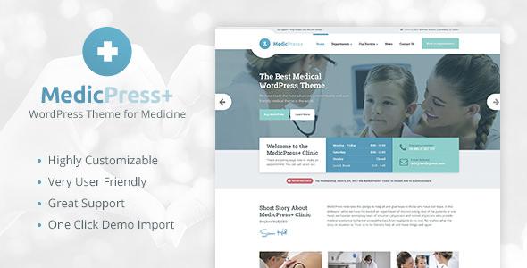 MedicPress v1.7.0 — Medical WordPress Theme for Clinics