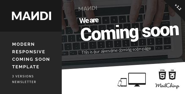 Mandi — Modern Responsive Coming Soon Template