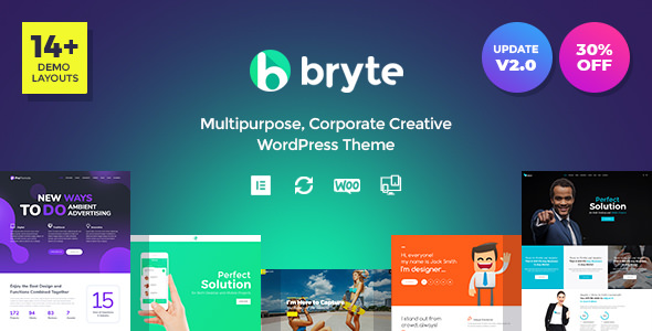 Bryte v1.0.0 — Multipurpose Creative & Business WordPress Theme