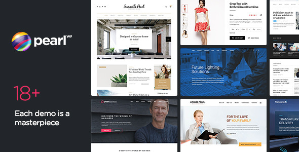 Pearl WP v1.9.1 — Corporate Business WordPress Theme