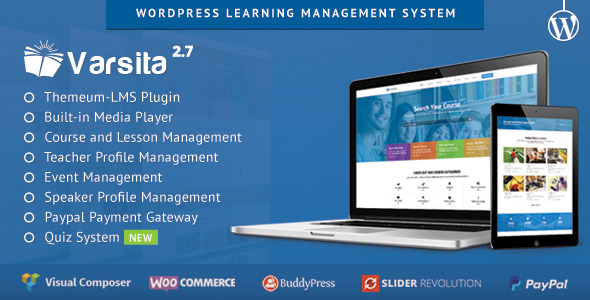 Varsita v2.7 — Education Theme, A Learning Management System