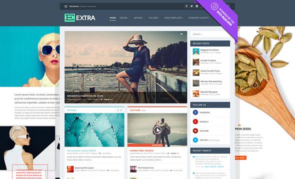 Extra v2.0.95 — Elegantthemes Premium WordPress Theme