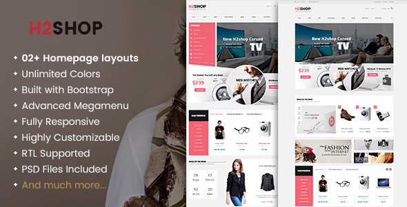 H2shop v1.2.5 — Responsive WooCommerce Shop WordPress Theme