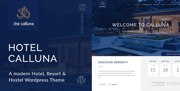 Hotel Calluna v3.2.0 — Hotel & Resort & WordPress Theme