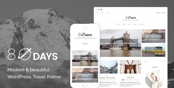 EightyDays v2.2.2 — A WordPress Travel Theme For Travel Blogs