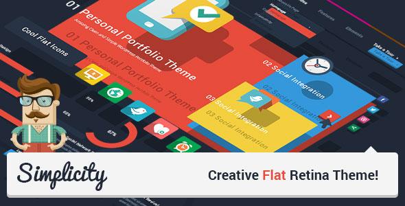 Simplicity v1.7.2 — Creative Flat Retina Theme
