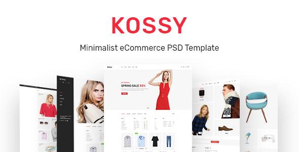 Kossy v1.0 — Minimalist eCommerce PSD Template