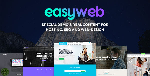 EasyWeb v2.2.7 — WP Theme For Hosting, SEO and Web-design