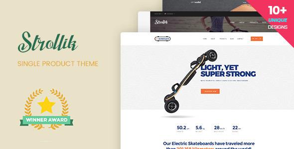 Strollik v2.0 — Single Product WooCommerce WordPress Theme