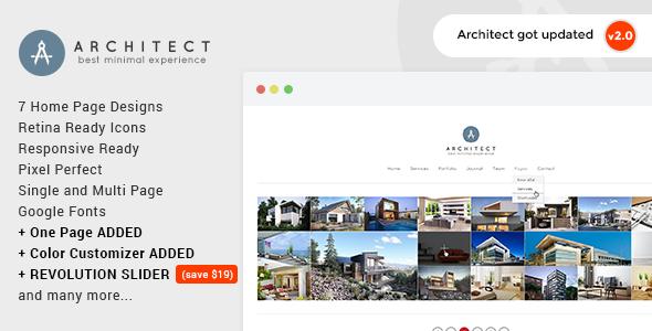 Architect v2.4 — Creative Agency WordPress Theme