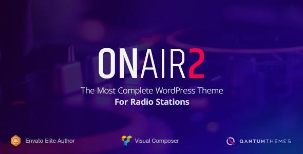 Onair2 v2.3.1 — Radio Station WordPress Theme