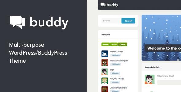 Buddy v2.15.1 — Multi-Purpose WordPress/BuddyPress Theme
