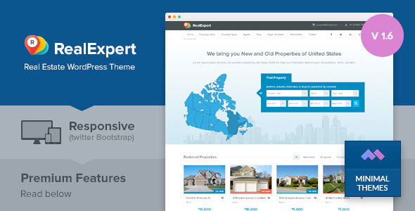 Real Expert v1.7.3 — Responsive Real Estate WP Theme