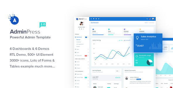Admin Press v2.0 — The Ultimate & Powerful Bootstrap 4 Admin Template