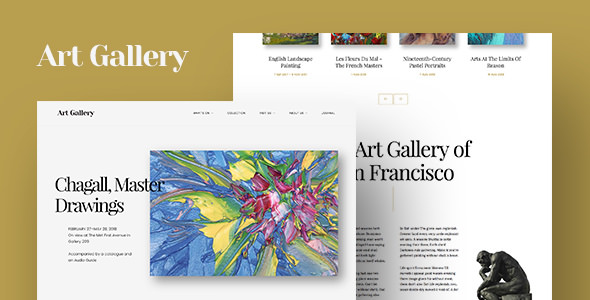 Arte v1.1.3 — Art Gallery WordPress Theme
