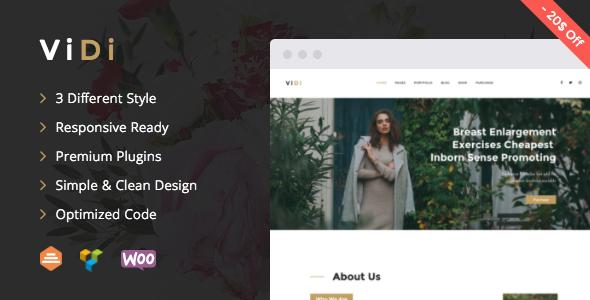 ViDi v1.1.1 — Multi-Purpose Corporate WordPress Theme